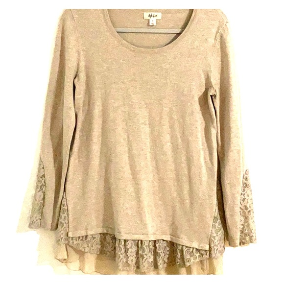 Style & Co Tops - Style & co top with lace detail.